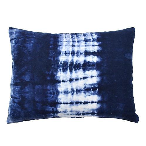 Shibori Linen Lumbar Pillow