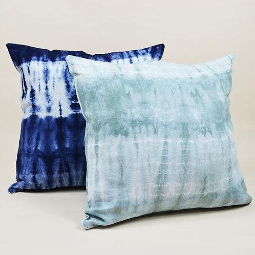 Shibori Linen Throw Pillow