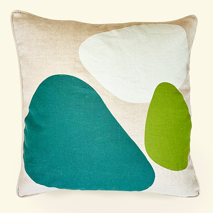Bubble Throw Pillow · Teal