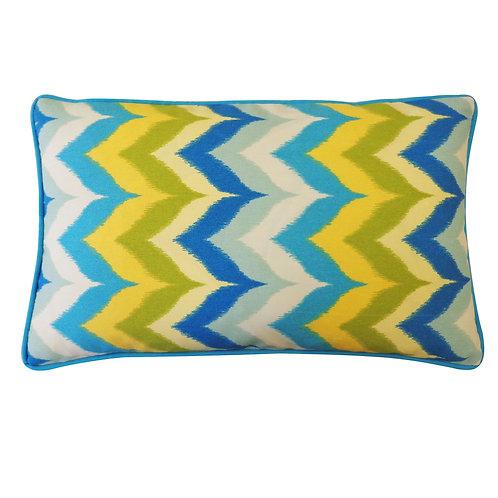 Drip Print Outdoor Lumbar Pillow