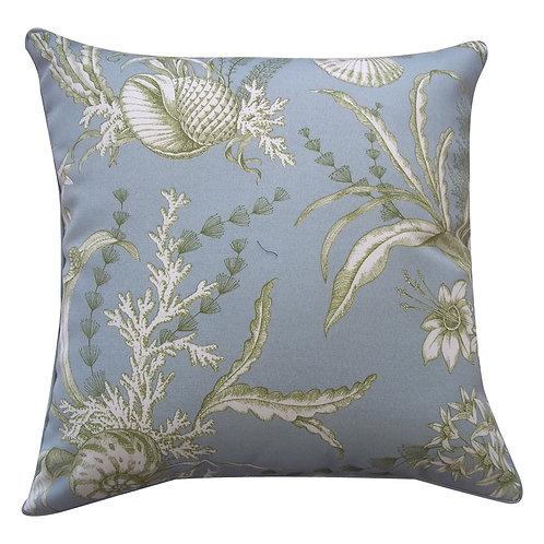 Sea Print Outdoor Throw Pillow