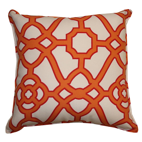 Octagon Print Outdoor Throw Pillow