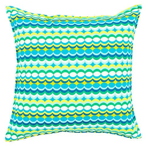 Bubble Print Outdoor Throw Pillow