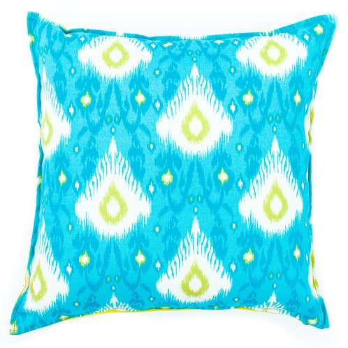 Ikat Print Outdoor Throw Pillow
