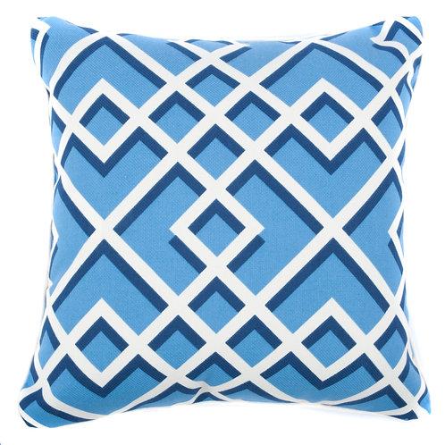 Geo Print Outdoor Throw Pillow