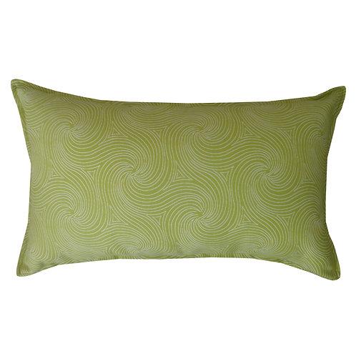 Swirl Print Outdoor Lumbar Pillow