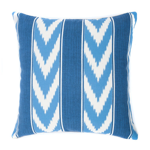 Ikat Stripe Print Outdoor Throw Pillow