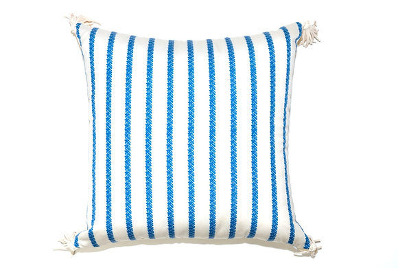 Trenzas Blue Outdoor Pillow