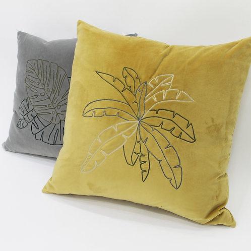 Palm Velvet Throw Pillow