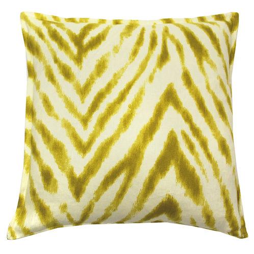 Chevron Print Linen Throw Pillow