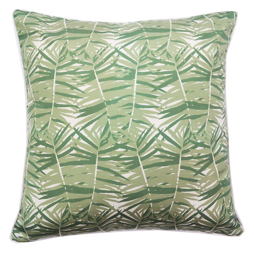 Fern Leaves Print Outdoor Throw Pillow