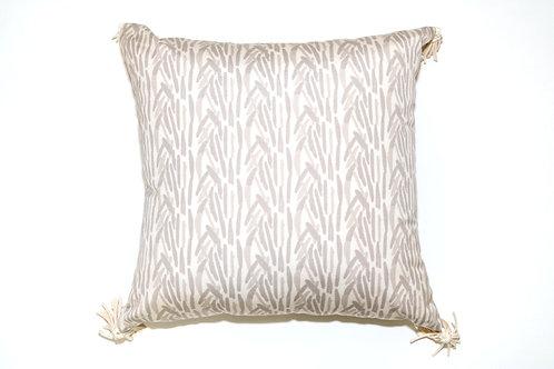 Cream Fern Outdoor Pillow