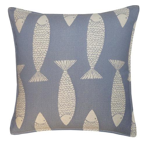 Salmon Weave Outdoor Throw Pillow