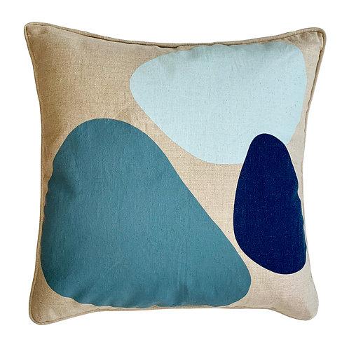 Bubble Linen Throw Pillow