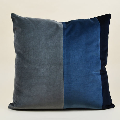 Rainbow Stripe Velvet Throw Pillow