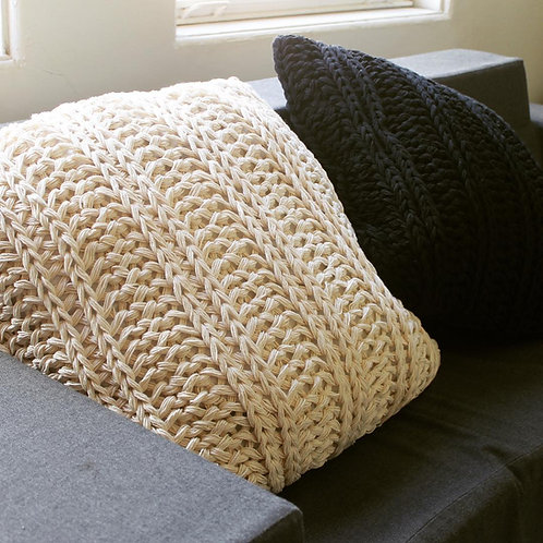 Rustic Knit Throw Pillow