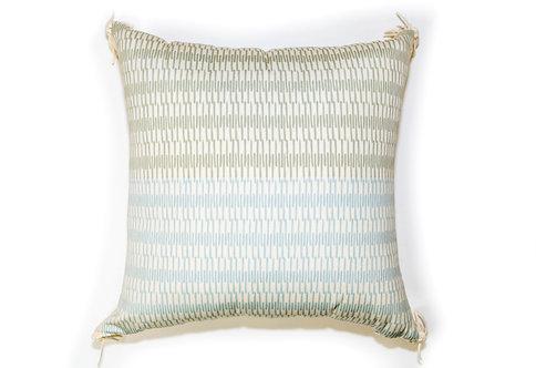 Half Grey Outdoor Pillow
