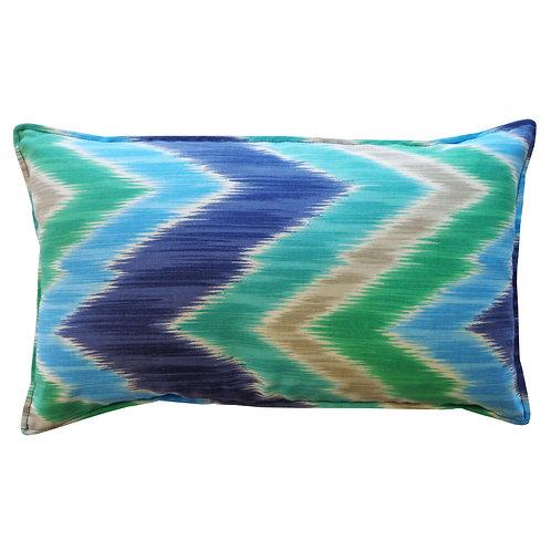 Pulse Print Outdoor Lumbar Pillow