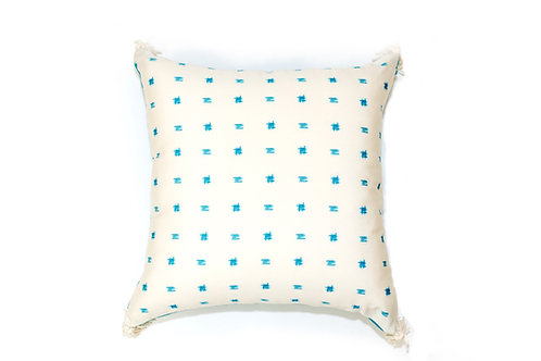 Blue Number Sign Outdoor Pillow