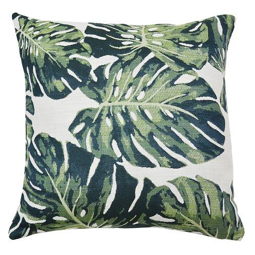 Monstera Jacquard Throw Pillow