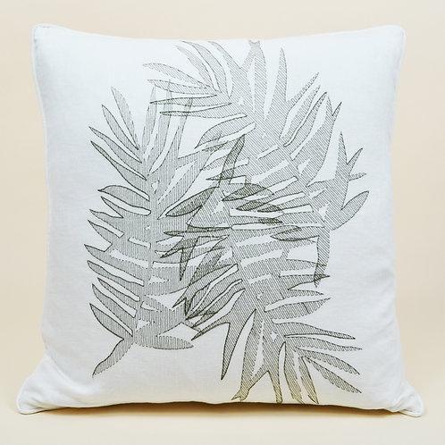 Multi Palm Linen Throw Pillow