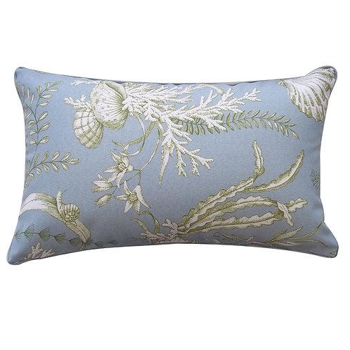 Sea Print Outdoor Lumbar Pillow