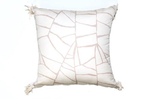 Cream Web Outdoor Pillow