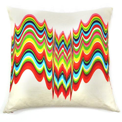 Frequency Print Linen Throw Pillow