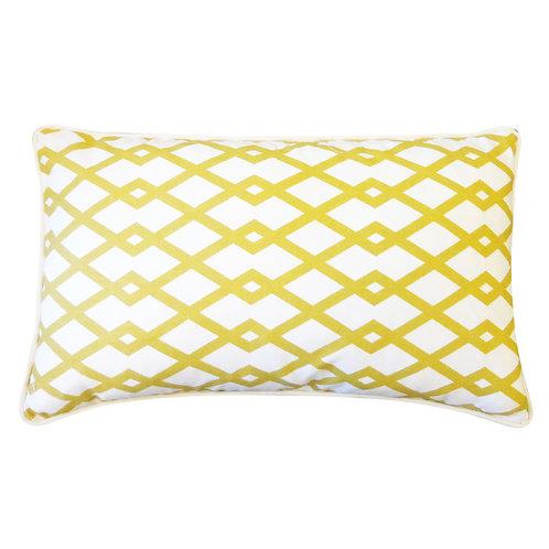 Mod Print Cotton Lumbar Pillow