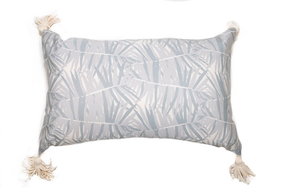 Canary Palm Gray Outdoor Pillow