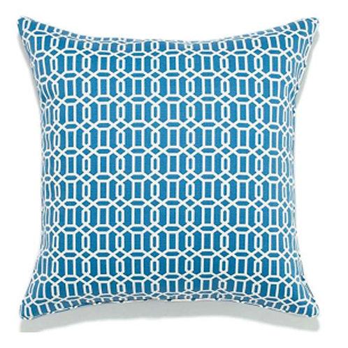 Mosaic Print Outdoor Throw Pillow