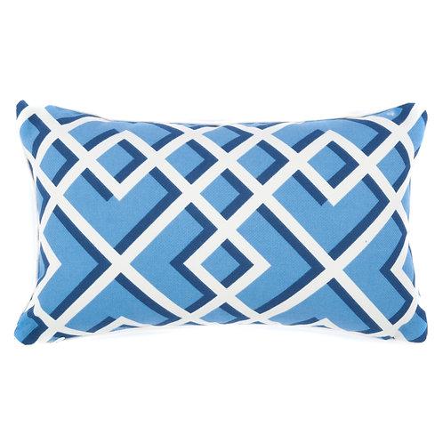 Geo Print Outdoor Lumbar Pillow
