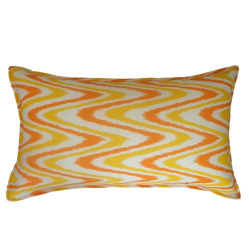 Electric Print Outdoor Lumbar Pillow