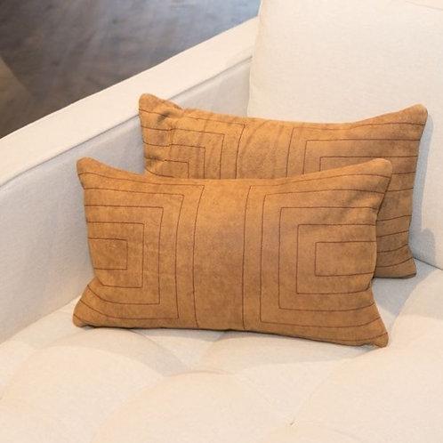 Streams Leather Lumbar Pillow