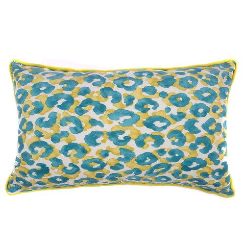 Cheetah Print Outdoor Lumbar Pillow