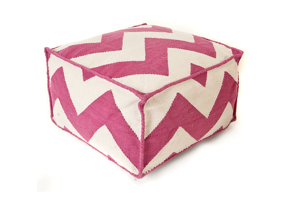 Rose ziggy outdoor Pouf
