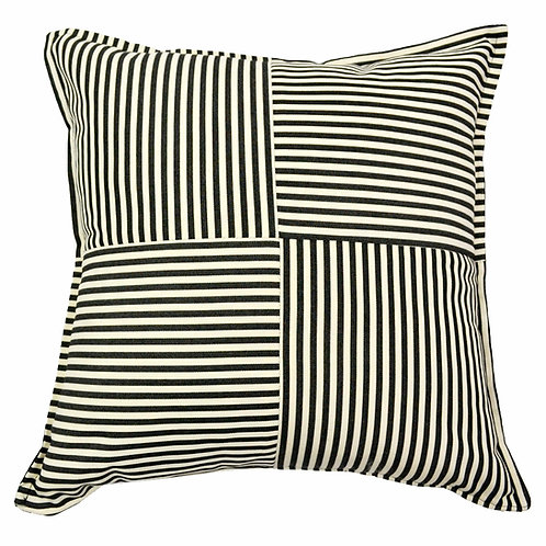 Large Checkered Outdoor Throw Pillow