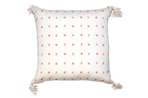 Bamboo Spots Orange Outdoor Pillow