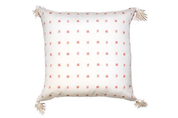 Bamboo Spots Orange Outdoor Pillow