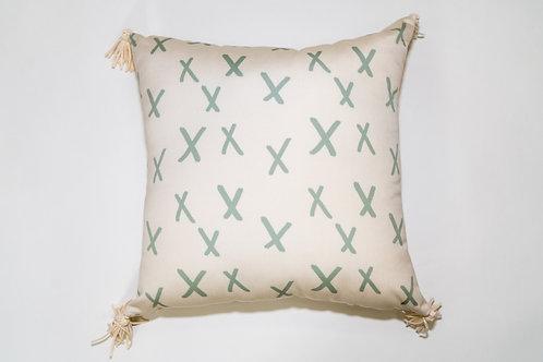 Gray Xoxo Outdoor Pillow