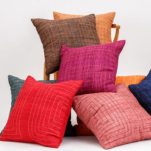 Streams Heathered Silk Throw Pillow