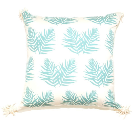 Green Double Leaf Outdoor Pillow