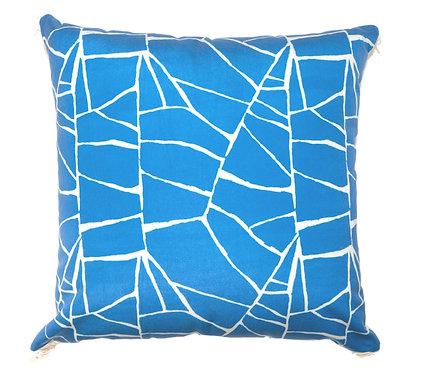 Blue Web Outdoor Pillow