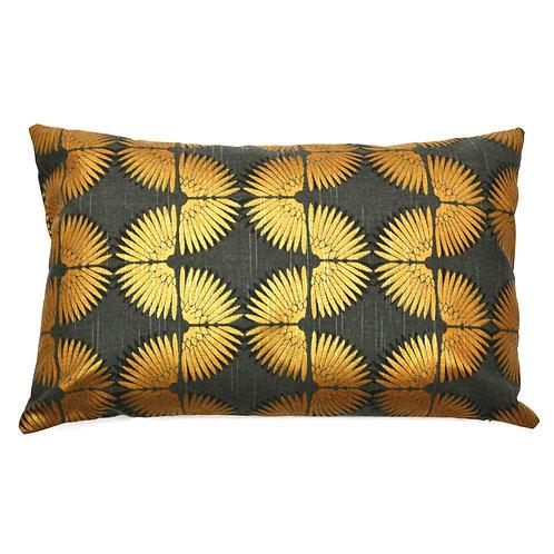 Wavy Print Cotton Lumbar Pillow