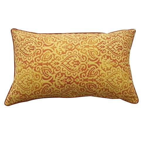 Outdoor Golden Orange Paisley