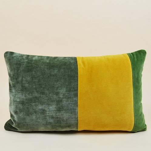 Rainbow Stripe Velvet Lumbar Pillow