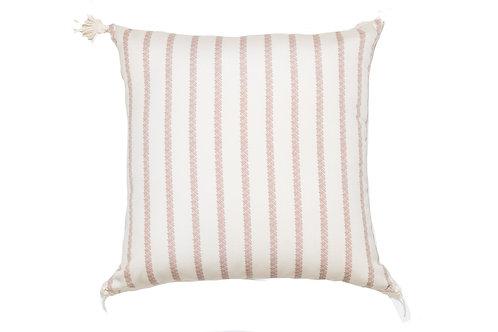 Bamboo Stripe Orange Outdoor Pillow