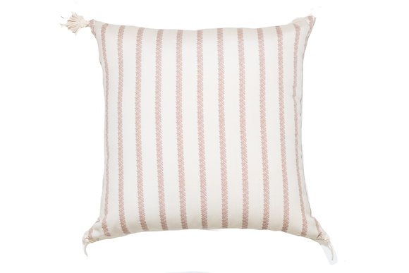 Bamboo Stripe Orange Outdoor Pillow