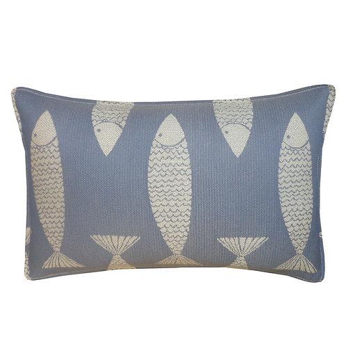 Salmon Weave Outdoor Lumbar Pillow