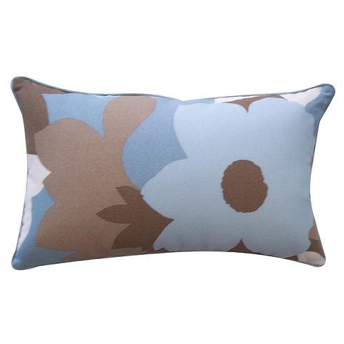 Flower Print Outdoor Lumbar Pillow